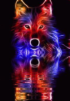 Gif Live walpaper - My Walpaper Mobile Legend Wallpaper, Wolf Wallpaper, Naruto Wallpaper, Fantasy Wolf, Dark Fantasy Art, Dark Art Drawings, Animal Drawings, Arte Aries, Der Steppenwolf