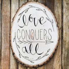 Love Conquers All Plaque