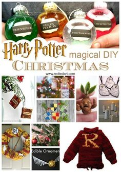 Harry Potter Christmas Decorations, DIY and Crafts, DIY Harry Potter Christmas Decorations. Amazing Harry Potter Crafts for Christmas. Great Harry Potter Ornaments and more! Harry Potter Christmas Decorations, Harry Potter Christmas Tree, Hogwarts Christmas, Easy Christmas Decorations, Diy Christmas Ornaments, Ornaments Ideas, Tree Decorations, Christmas Holiday, Kids Ornament