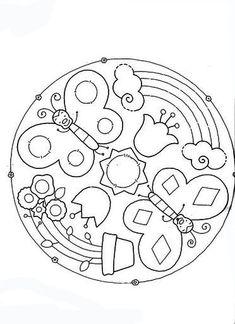 mandala Spring Coloring Pages, Mandala Coloring Pages, Colouring Pages, Free Coloring, Coloring Pages For Kids, Coloring Sheets, Adult Coloring, Coloring Books, Mandala Art