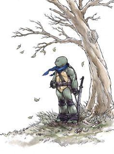 Ninja Turtles Illustrations by Ross Campbell