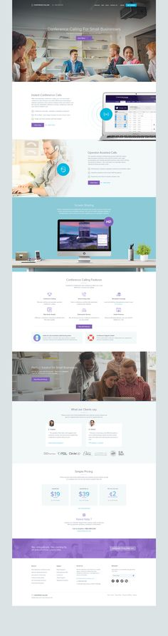 Conference Calling Homepage by Balkan Brothers  BalkanBrothers@dribbble