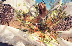 Anna Selezneva for Blumarine Spring/Summer 2013 by Camilla Akrans