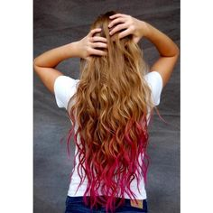 What color should I dip dye my hair? ❤ liked on Polyvore