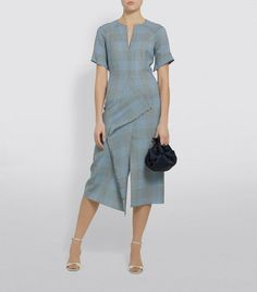 Roland Mouret Tresta Check Dress | Harrods.com