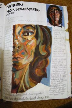 AS Level, 12. Self-portraiture. Tai Shan Schierenberg influence A Level Art Sketchbook, Arte Sketchbook, Tai Shan Schierenberg, Art Alevel, Sketchbook Inspiration, Art Lesson Plans, Texture Art, Magazine Art, Art Pages