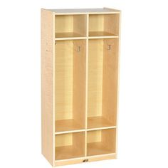 Hardwood Coat Locker with 2 Sections