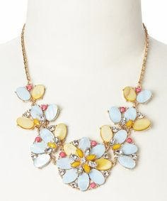 Another great find on #zulily! Baby Blue Flower Shell Bib Necklace by Pepper Loves Mint #zulilyfinds