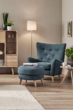 Molly hvilestol - Lilly is Love Living Room Colors, Living Room Grey, Home Living Room, House Of Turquoise, Sofa Design, Design Online Shop, Inspiration Wand, Contemporary Living Room Furniture