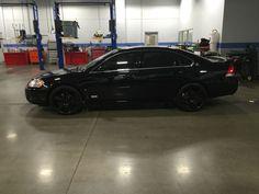 2006 Chevy Impala SS Black on Black with miles. Black 20 in Helo 885 Black wheels Chevy Impala Ss, Chevy Ss, 2006 Impala, 2012 Chevy Malibu, Cars 2006, Black Wheels, Girl Smoking, Future Car, Custom Cars