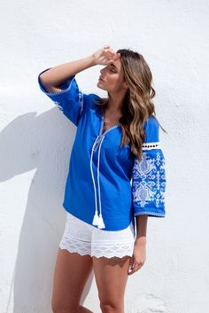 Inspired by and made for Greek islands, Ancient Kallos resort wear promises holidaymakers even more color style while on vacation. Ancient Greece Fashion, Island Wear, Greek Fashion, Greek Restaurants, Greek Islands, Resort Wear, Jacket Style, Beachwear, Hooded Jacket