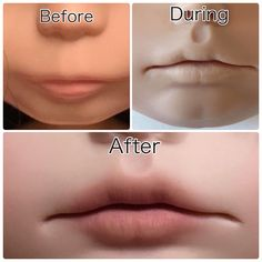 Aster's lips.... Lip carving Blythe by LoveLaurie