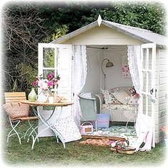 White summerhouse