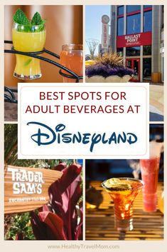 Even the Happiest Place on Earth can get a little happier when cocktails are involved! Here are the best spots to grab Disney drinks, at Disneyland, Downtown Disney, Disney California Adventure and the Disneyland hotel bars - newly updated for Disneyland Dining, Disneyland Rides, Disneyland Secrets, Disneyland Food, Disneyland Hotel, Downtown Disney, Disneyland Resort California, California Attractions, Disney California Adventure Park