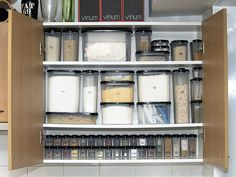 Cupboard Organization.  Tupperware.