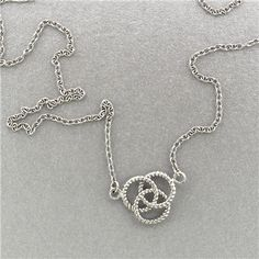 Crazy over Cable. Cable Inspired Celtic Knot Sterling Silver Necklace www.paradisojewelry.com #wholesalejewelry #sterlingsilver