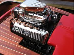 Blown 427 SOHC in a boat