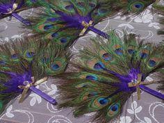 i like these Peacock Fan Favors