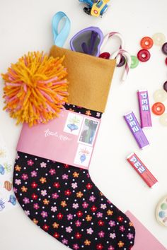 mail a stocking - cool idea to send to rozzy or someone far away for christmas. She made a small stocking, filled it with goodies, stitched the top and mailed it All Gifts, Cute Gifts, Holiday Crafts, Holiday Fun, Fun Mail, Christmas Stockings, Christmas Mail, Happy Mail, Looks Cool