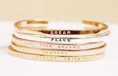 bracelets with a message.
