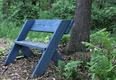 "An Aldo Leopold bench. ""There are some who can live without wild things, and there are some who cannot."" (A Sand County Almanac)"