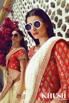 Double trouble! We just love love love these sarees from Zarkan of London​ East shopping centre, unit 12, 232-236 Green street, E7 8LE +44(0)20 3598 5488 www.zarkanoflondon.com Left Model: Makeup: Julie Ali Mua​ Right Model: Makeup: Summaya Mua​ Hair: Saira Rahman Hairstylist​ Jewellery: Anees malik​ Location: Algarve, Portugal.