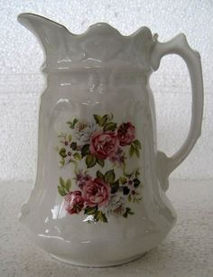 JAMES KENT OLD FOLEY CHINA PITCHER - GLOBE mark C' 1900