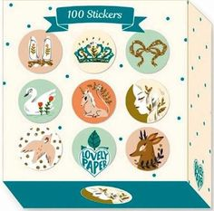 100 stickers on a roll, part of Djeco's Lovely Paper Lucille range.