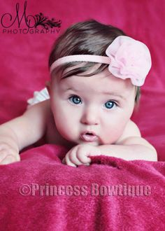 Sheer Light Pink Rosetta Headband for Babies