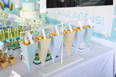 Conos dulces para candy bar de baby shower - http://manualidadesparababyshower.net/conos-dulces-para-candy-bar-de-baby-shower/