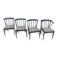 Image of Barrel & Spindle Back Dining Chairs - Set of 4