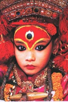 In Nepal there are girls revered as a living goddess or Kumar  http://culturalcrosspollination.tumblr.com