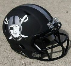 Black Matte Oakland Raiders Helmet