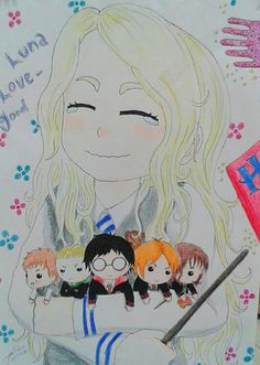Luna Lovegood and your characters of Harry Potter by JoaoRibeiro123.deviantart.com on @DeviantArt