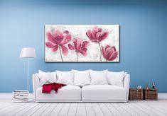 Cuadro texturado de flores rosas Tapestry, Drawings, Home Decor, Boards, Pink Blossom, Environment, Modern Paintings, Art, Pintura