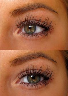 her lashes are so long and natural looking
