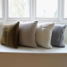knitted cushion covers.