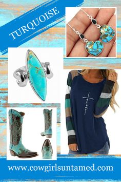 BOHEMIAN COWGIRL RING Turquoise 925 Sterling Silver Jewelry Womens Ring SIZE 8 $54.99 FREE USA SHIPPING w/ FREESHIP21 Paired w/ Faith top. 925 SS Heart Turquoise Earrings, genuine leather studded turquoise boots COWGIRLS UNTAMED #faith #top #shirt #women #fashion #outfit #Spring #Winter #longsleeve #stripe #turquoise #blue #navy #earrings #925SS #sterlingsilver #silver #jewelry #heart #love #Christian #cowgirl #westenrwear #bohojewelry #westernjewelry #cowgirlboots #leather #ridingboots…