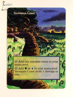 Yavimaya Coast - Extended MTG Alter - Revelen's Light Altered Art Magic Card #WizardsoftheCoast