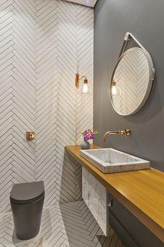 MARIANNA VETORAZZO HADDAD – Revista InterArq | Anuário #revistainterarq #decor #arquitetura #lavabo #banheiro