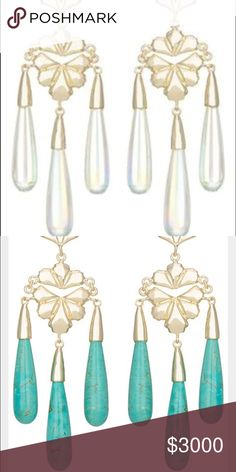 ISO Price Chandelier Earrings These are from the Kendra Scott 2014 Atlantic Collection. I would love either turquoise or iridescent. Kendra Scott Jewelry Earrings