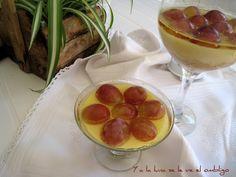 Copa de Mascarpone con Uvas en gelatina de Moscatel