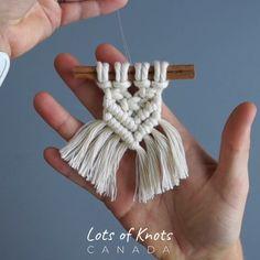 12 Days of Christmas! Day DIY 6 Minute Macrame Cinnamon Stick Tree Ornament - Free Online Videos Best Movies TV shows - Faceclips Macrame Wall Hanging Diy, Macrame Art, Macrame Projects, Macrame Knots, 12 Days Of Christmas, Christmas Diy, Canada Christmas, Christmas Trends, Christmas Ornaments