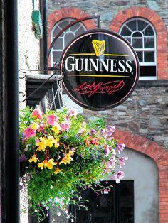 Guinness Pub sign in Ireland. #cietours # guinness