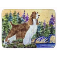 East Urban Home Springer Spaniel Memory Foam Bath Rug