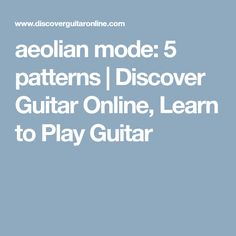 Lydian Mode: 5 patterns Discover Guitar Online, Learn to Play Guitar Learn Guitar Chords, Guitar Chord Chart, Learn To Play Guitar, Music Guitar, Playing Guitar, Phrygian Mode, Guitar Modes, Minor Scale, Pentatonic Scale