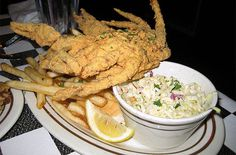 Soft-Shell Crabs in a must in the summer. Fisherman's Warf Restaurant in Wanchese, NC shells out some of the best soft-shells in the OBX!