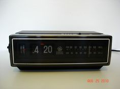 80's GE flip number clock--thought I was high tech