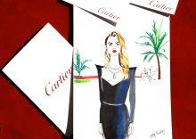 Hatty Pedder Cartier Illustration via Production Paradise Illustration Artists, Cartier, Dubai, Paradise, Fine Art, Heaven, Visual Arts, Heavens