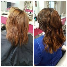 Obsessed with the after of this #TransformationTuesday color Hotheads extensions and BLO/OUT!